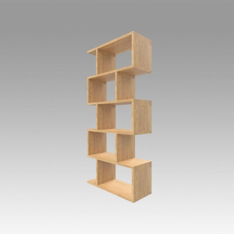 Bookshelf royalty-free 3d model - Preview no. 6
