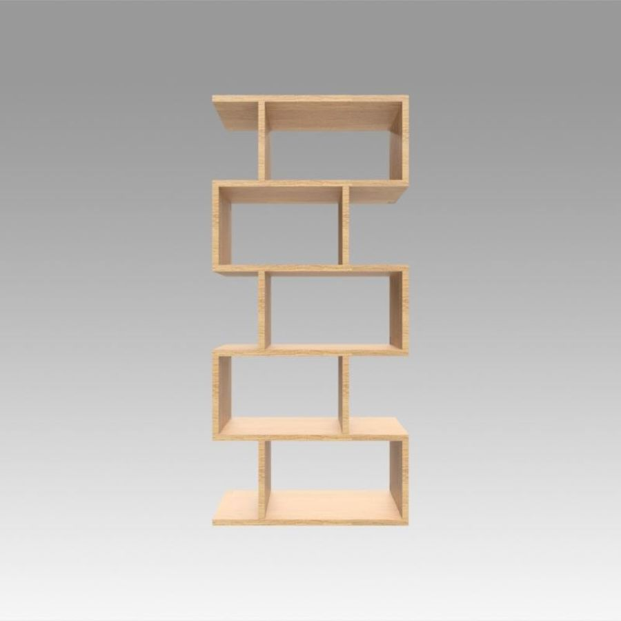 Bookshelf royalty-free 3d model - Preview no. 5