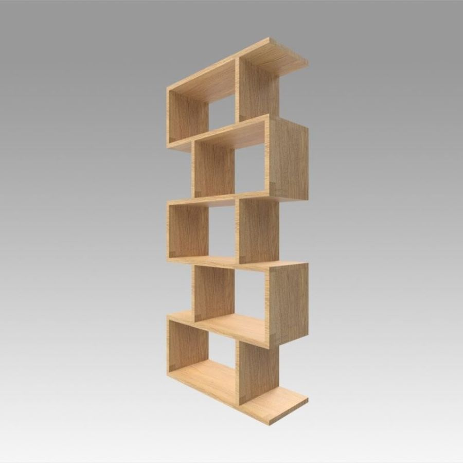 Bookshelf royalty-free 3d model - Preview no. 2