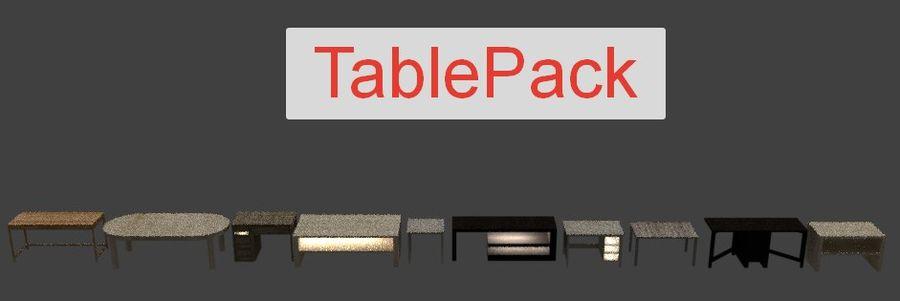 Tafelpakket royalty-free 3d model - Preview no. 16