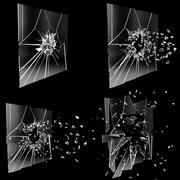 Animation de bris de verre 3d model