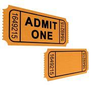 Билет в кино 3d model