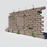 Muro coberto de vegetação 3d model