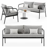 Soffa Radsted Set 3d model
