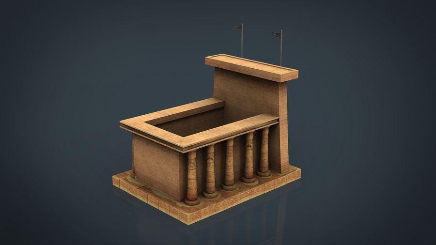 Templo egípcio royalty-free 3d model - Preview no. 2