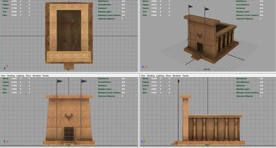 이집트 사원 royalty-free 3d model - Preview no. 6