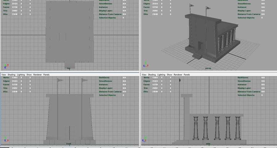 이집트 사원 royalty-free 3d model - Preview no. 7