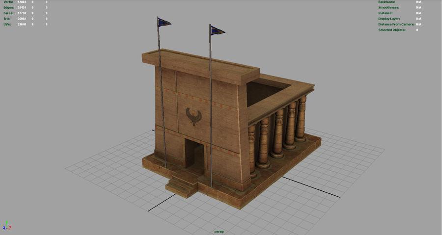 エジプトの寺院 royalty-free 3d model - Preview no. 3