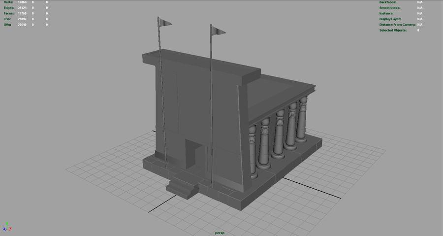 エジプトの寺院 royalty-free 3d model - Preview no. 4