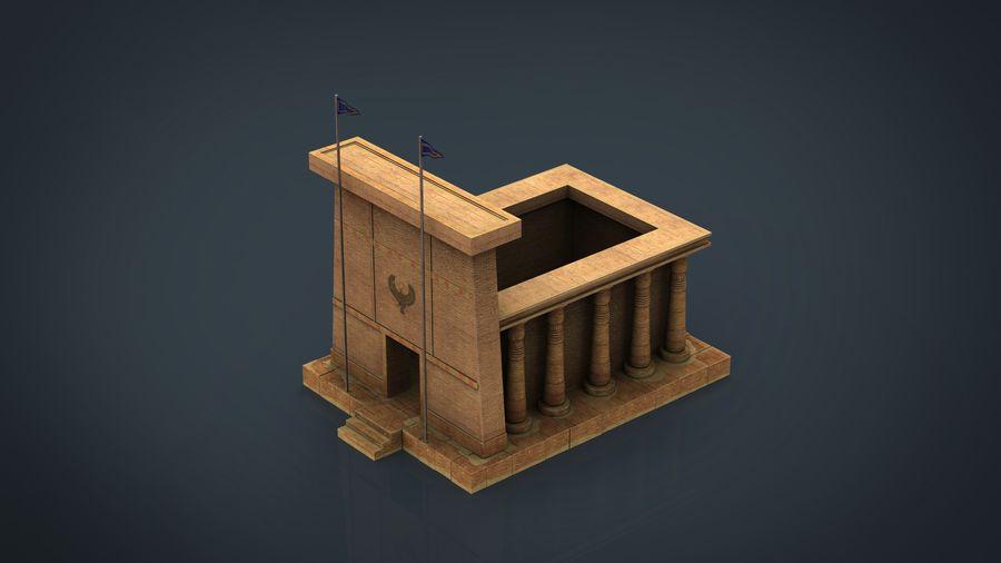 이집트 사원 royalty-free 3d model - Preview no. 1