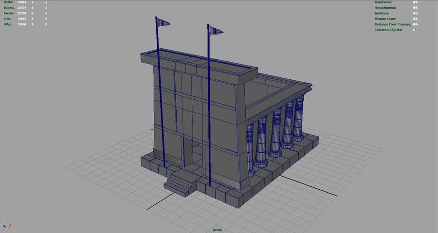 이집트 사원 royalty-free 3d model - Preview no. 5