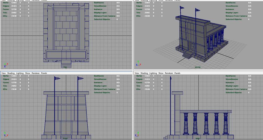 이집트 사원 royalty-free 3d model - Preview no. 8