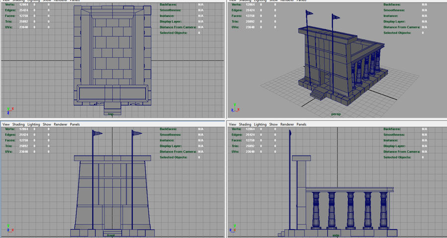 Templo egípcio royalty-free 3d model - Preview no. 8
