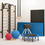 Jimnastik Gereçleri Spor Seti 3d model