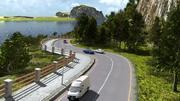 Kustväg i blandare 3d model