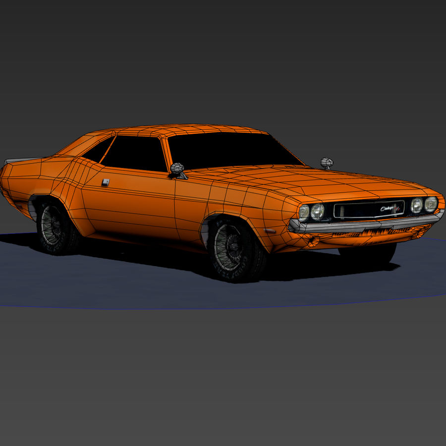 Dodge Challenger 1970 royalty-free modelo 3d - Preview no. 6