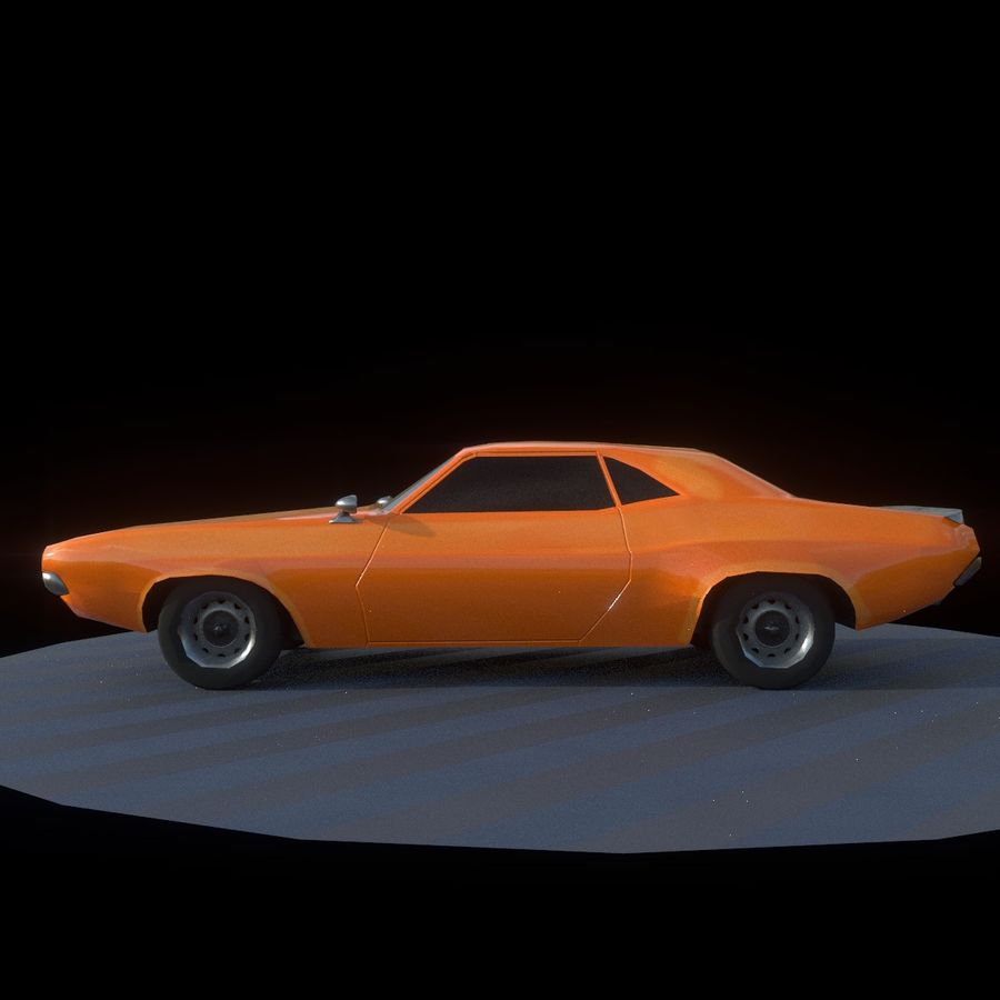 Dodge Challenger 1970 royalty-free modelo 3d - Preview no. 3