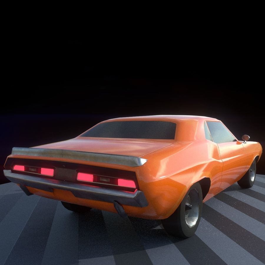 Dodge Challenger 1970 royalty-free modelo 3d - Preview no. 10