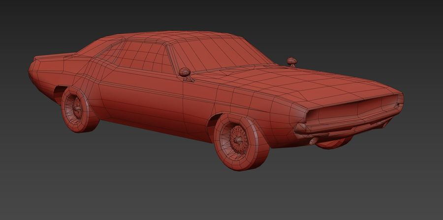 Dodge Challenger 1970 royalty-free modelo 3d - Preview no. 9