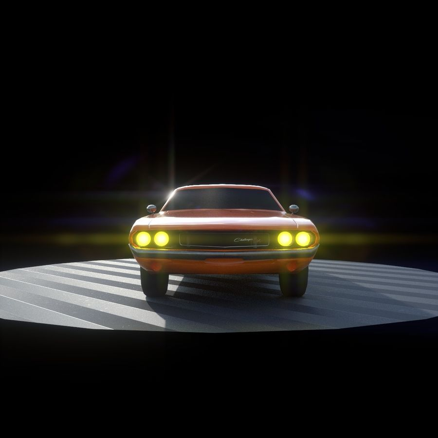 Dodge Challenger 1970 royalty-free modelo 3d - Preview no. 4