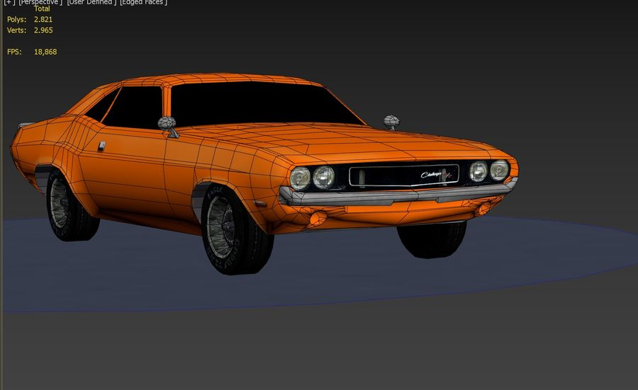 Dodge Challenger 1970 royalty-free modelo 3d - Preview no. 8
