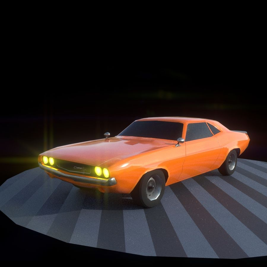 Dodge Challenger 1970 royalty-free modelo 3d - Preview no. 2