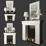 Fireplace decor 3d model