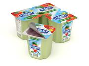 Confezione di yogurt alla frutta 3d model