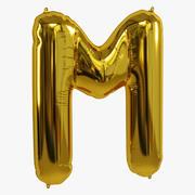 호일 풍선 금 M 3d model