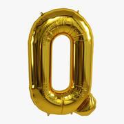 Folienballon Gold Q. 3d model