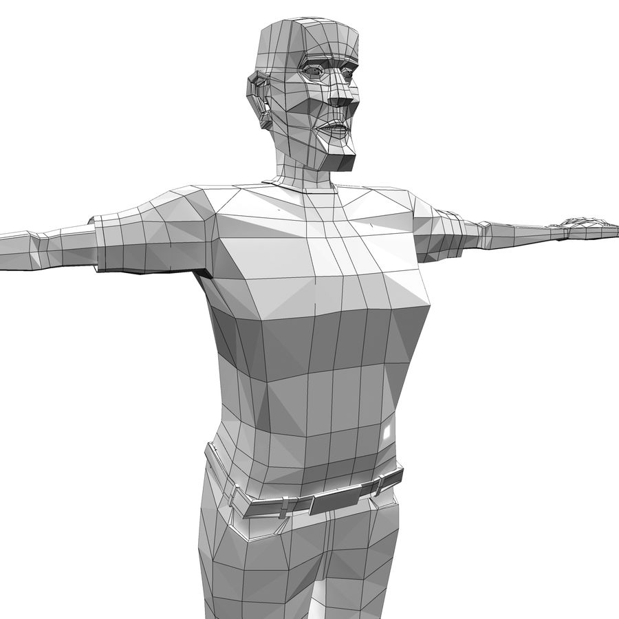 Man Body Builder royalty-free 3d model - Preview no. 11
