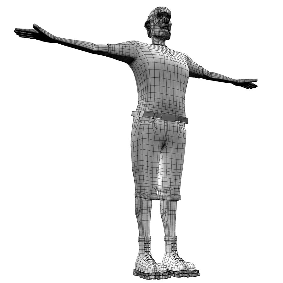 Man Body Builder royalty-free 3d model - Preview no. 17