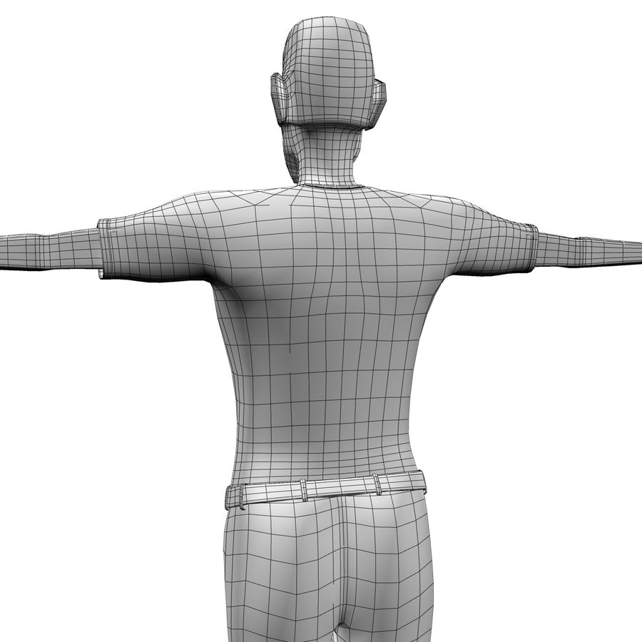 Man Body Builder royalty-free 3d model - Preview no. 16