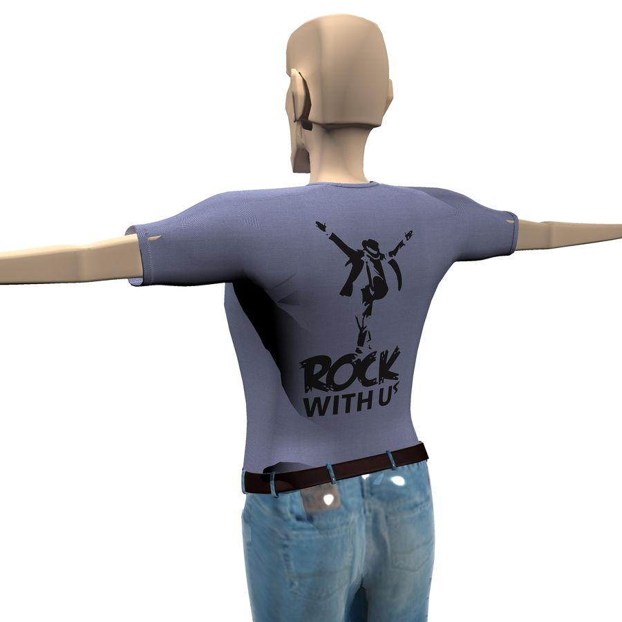 Man Body Builder royalty-free 3d model - Preview no. 6