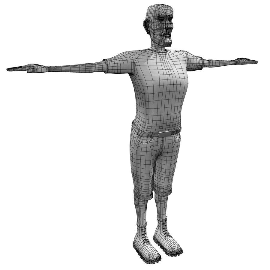 Man Body Builder royalty-free 3d model - Preview no. 12