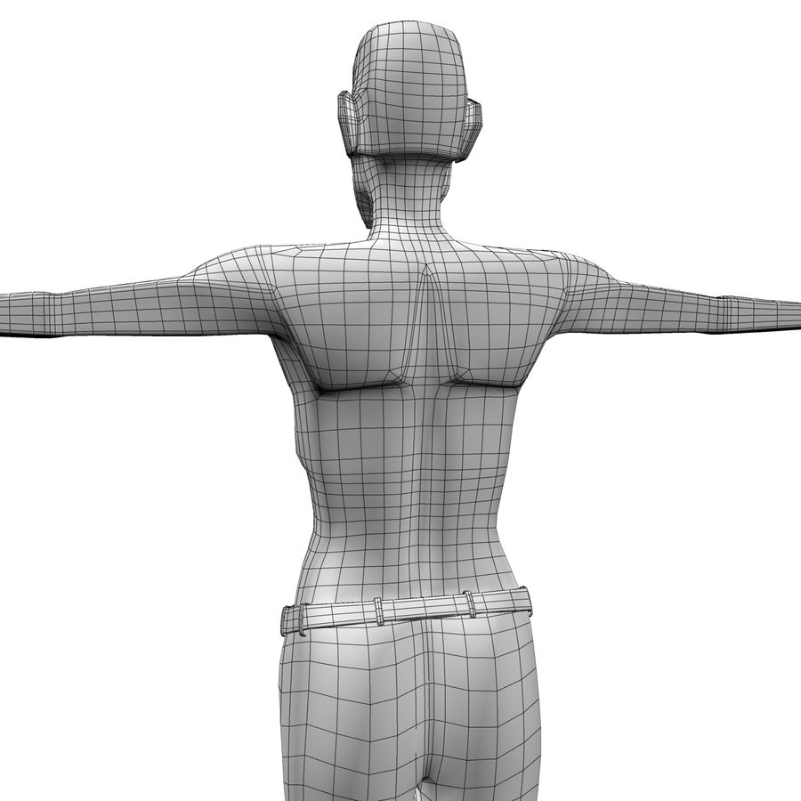 Man Body Builder royalty-free 3d model - Preview no. 15