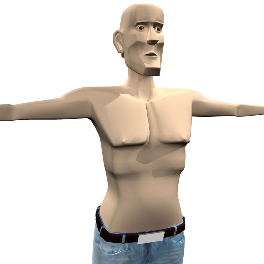 Man Body Builder royalty-free 3d model - Preview no. 4