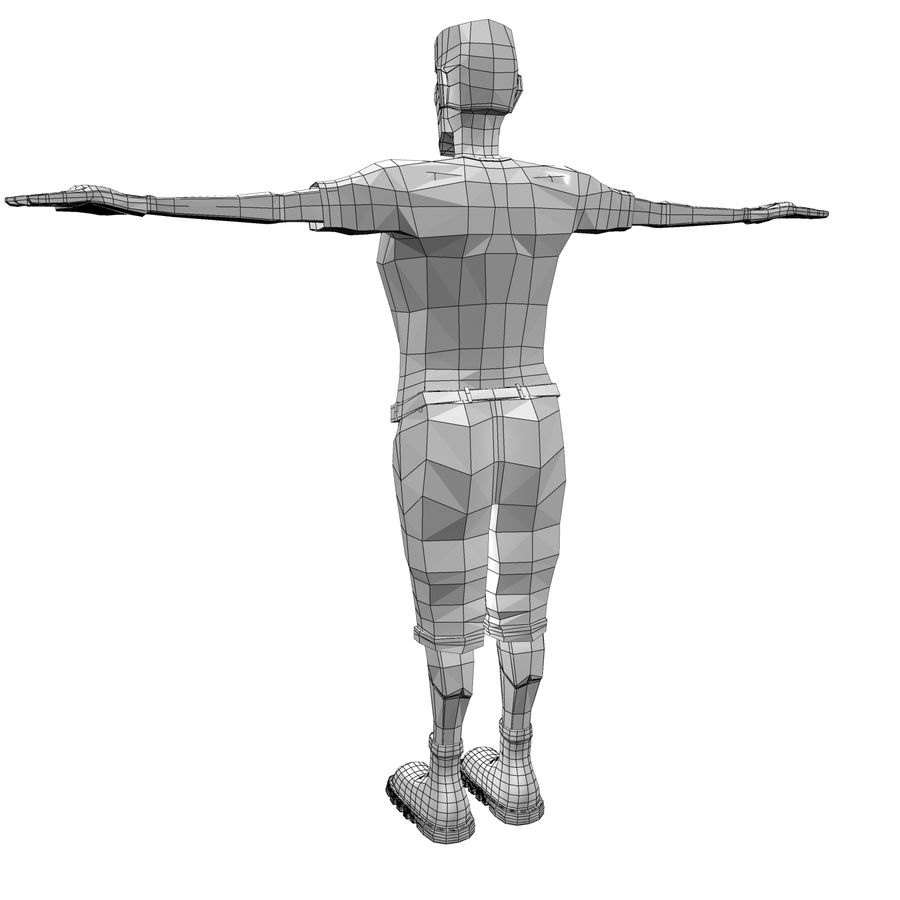 Man Body Builder royalty-free 3d model - Preview no. 13