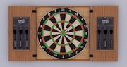 Wood dart game 3d model