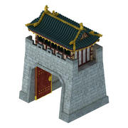 Beijing City - City Gate 02 3d model
