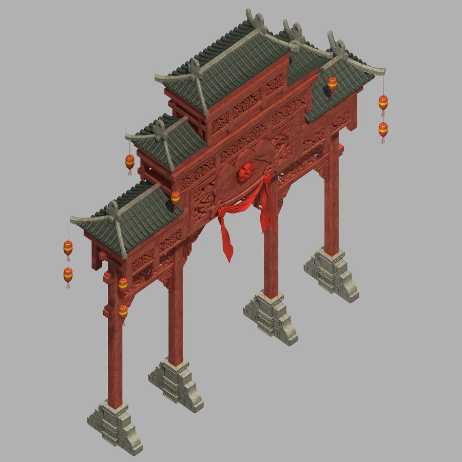 Beijing City Architecture - Archway royalty-free 3d model - Preview no. 1