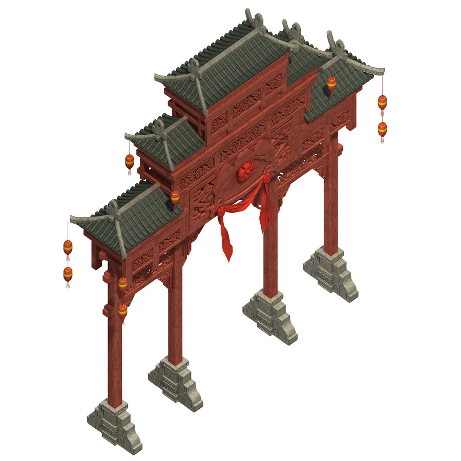 Beijing City Architecture - Archway royalty-free 3d model - Preview no. 2