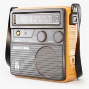 レトロなポータブルラジオベガ 3d model