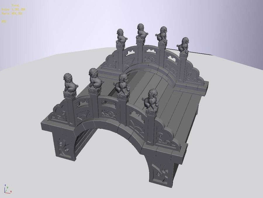 Beijing Architecture - Stone Bridge 31 royalty-free 3d model - Preview no. 3