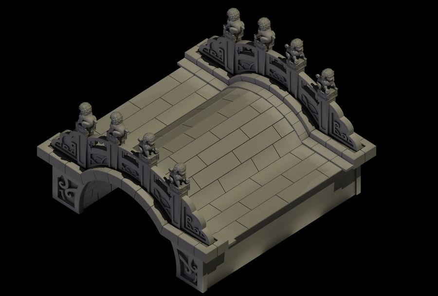 Beijing Architecture - Stone Bridge 31 royalty-free 3d model - Preview no. 2