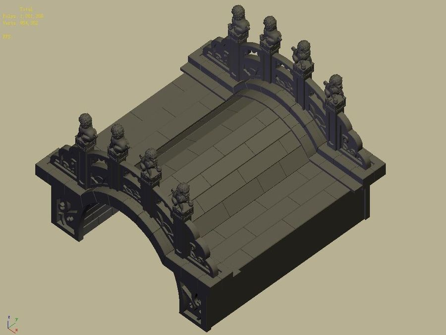 Beijing Architecture - Stone Bridge 31 royalty-free 3d model - Preview no. 4