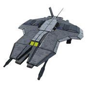 Lutador do espaço 3d model