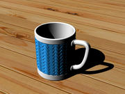 咖啡杯(竹编) 3d model