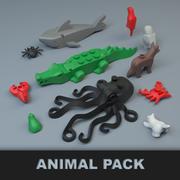 Pack de animales de Lego modelo 3d