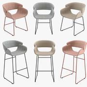 Blu Dot Racer Dining Chair & Barstool 3d model